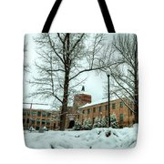 Asheville High School During Winter Tote Bag