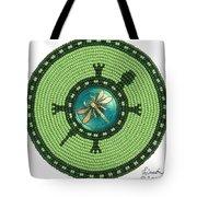 Ashlee's Dragonfly Turtle Tote Bag by Douglas K Limon