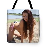 Ashley Hawaiian Flower Print Bikini 2 Tote Bag