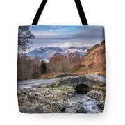 Ashness Bridge And Snow Capped Skiddaw Tote Bag