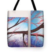 Asian Bloom Triptych 1 2 Tote Bag