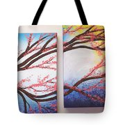 Asian Bloom Triptych 2 3 Tote Bag