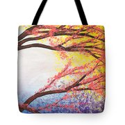 Asian Bloom Triptych 3 Tote Bag