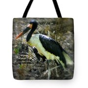 Asian Stork With Message Tote Bag