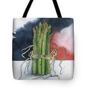 Asparagus In Raffia Tote Bag
