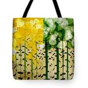 Aspen Colorado 4 Seasons Abstract Tote Bag