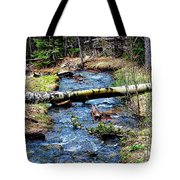 Aspen Crossing Mountain Stream Tote Bag