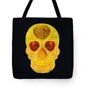 Aspen Leaf Skull 1 Black Tote Bag