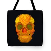 Aspen Leaf Skull 2 Black Tote Bag