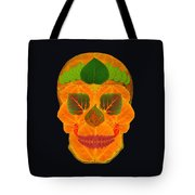 Aspen Leaf Skull 3 Black Tote Bag