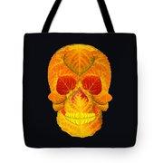 Aspen Leaf Skull 6 Black Tote Bag
