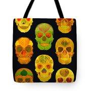 Aspen Leaf Skulls Poster 2014 Black Tote Bag