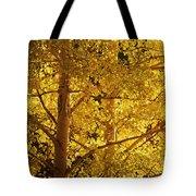 Aspen Leaves Textured Tote Bag