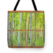 Aspen Tree Forest Autumn Picture Window Frame View  Tote Bag