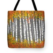 Aspen Trees Tote Bag by Elena  Constantinescu