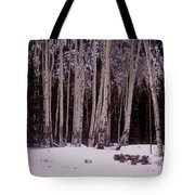 Aspens In Snow Tote Bag