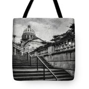 Aspirations In Black And White Tote Bag