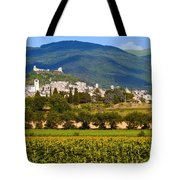 Assisi From The Sunflower Fields Tote Bag