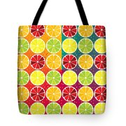 Assorted Citrus Pattern Tote Bag