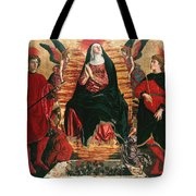 Assumption Of Mary With Sts Minias And Julian Tote Bag