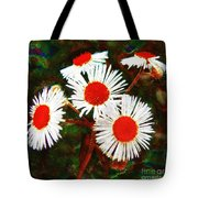Asters Bright And Bold Tote Bag