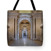 Astor Hall New York Public Library Tote Bag by Susan Candelario