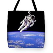 Astronaut In Space Tote Bag