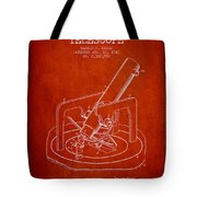 Astronomical Telescope Patent From 1943 - Red Tote Bag