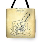 Astronomical Telescope Patent From 1943 - Vintage Tote Bag