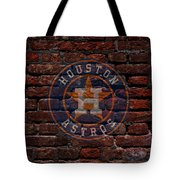 Astros Baseball Graffiti On Brick  Tote Bag by Movie Poster Prints