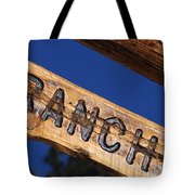At Home On The Ranch Tote Bag