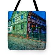 At Night In Thuringia Village Germay Tote Bag