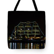 At Night On The  Delaware River - The Mushulu Tote Bag