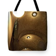 At Night Outside Union Station Tote Bag