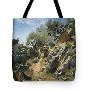At Noon On A Cactus Plantation In Capri Tote Bag