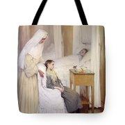At Notre-dame Du Perpetuel Bon Secours Hospital Tote Bag