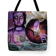 At Peace Tote Bag by M Montoya Alicea