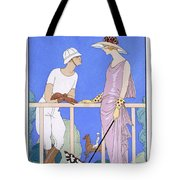 At Polo Tote Bag by Georges Barbier