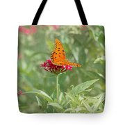 At Rest - Gulf Fritillary Butterfly Tote Bag