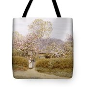 At School Green Isle Of Wight Tote Bag