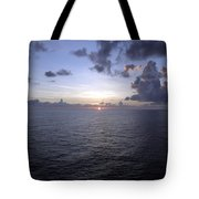 At Sea -- A Sunrise Begins Tote Bag