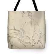 At The Cafe Tote Bag by Henri de Toulouse-Lautrec
