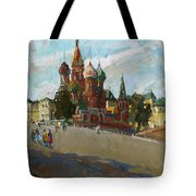 At The Cathedral Of Vasily The Blessed Tote Bag