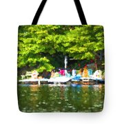 At The Cottage Dock Tote Bag