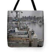 At The Dock Tote Bag by Amanda Barcon