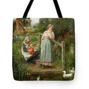 At The Duck Pond Tote Bag