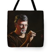 At The Easel Self Portrait Tote Bag