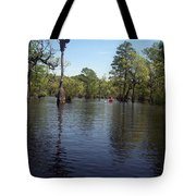 At The End Of The Canoe Tote Bag
