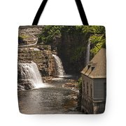 At The Falls In Ausable Ny Tote Bag