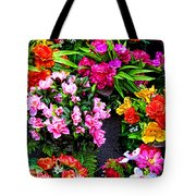 At The Flower Market  Tote Bag